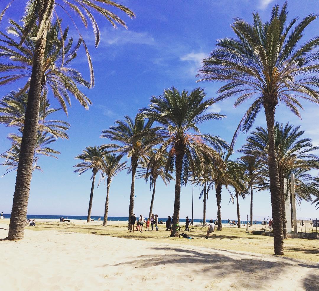 Beachside in March in Valencia