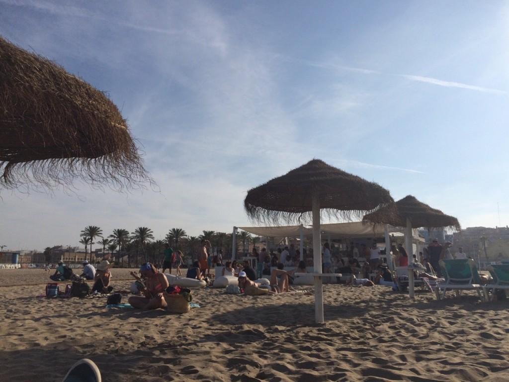 At the Patacona Beach in Valencia