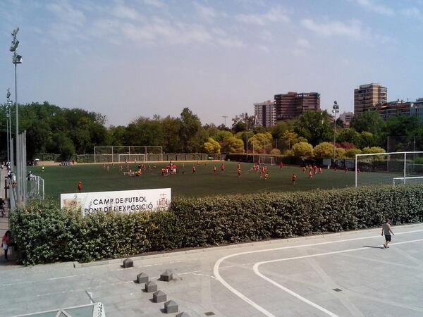 One Of The Many Football Pitches in The River Turia