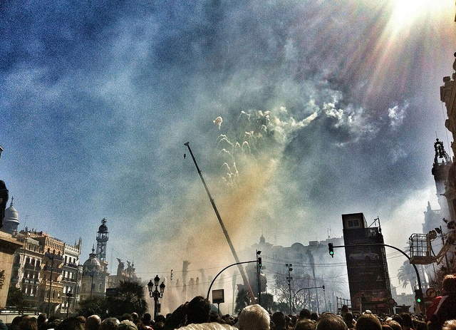 They Love A Good Mascleta Daytime Fireworks Display in Valencia
