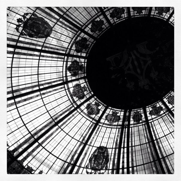 The Post office Dome in Valencia. Walk in. Look Up