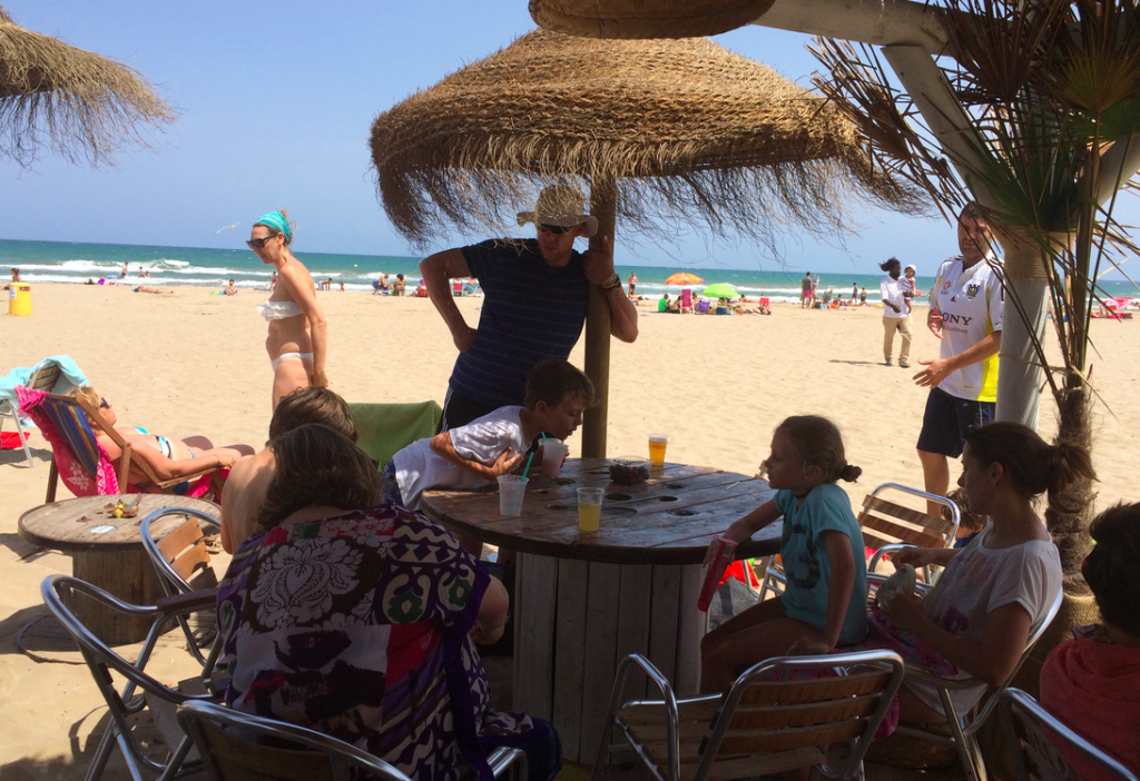 Beach Bars in Valencia. This one is on the Patacona