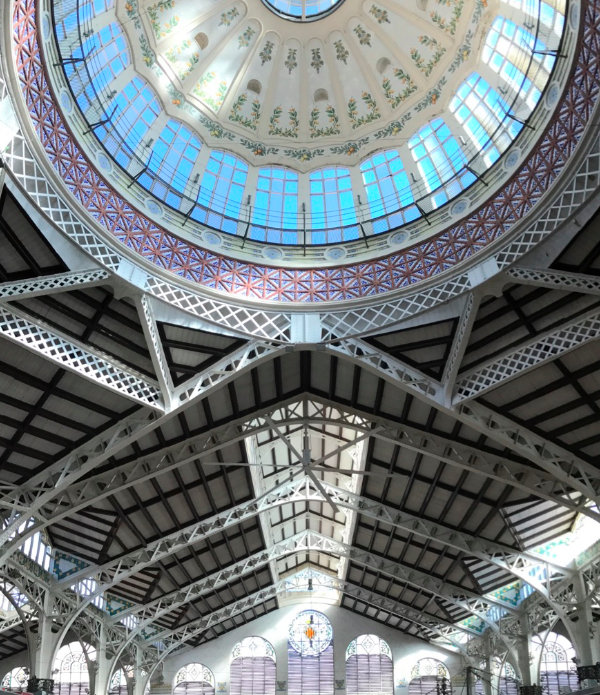 Valencia's Central market Dome and Ceiling