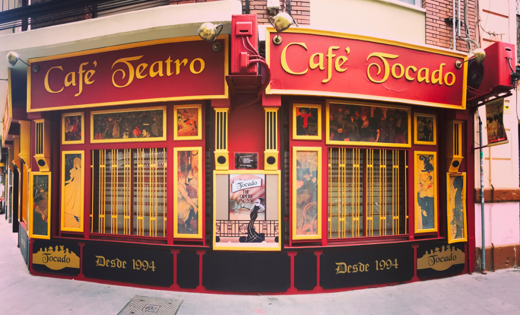 One of the many bars that appear on the cafe teatro Circuit in Valencia. Small theatre groups and stand up comedy can be seen regularly