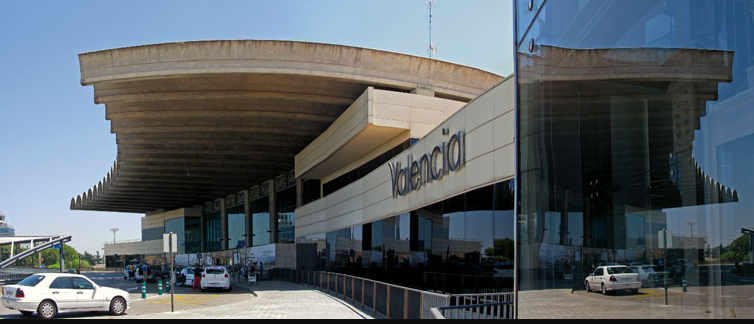 Valencia Airport Where you can get the metro straight into the city centre or a car will take you there in just over 5 mins