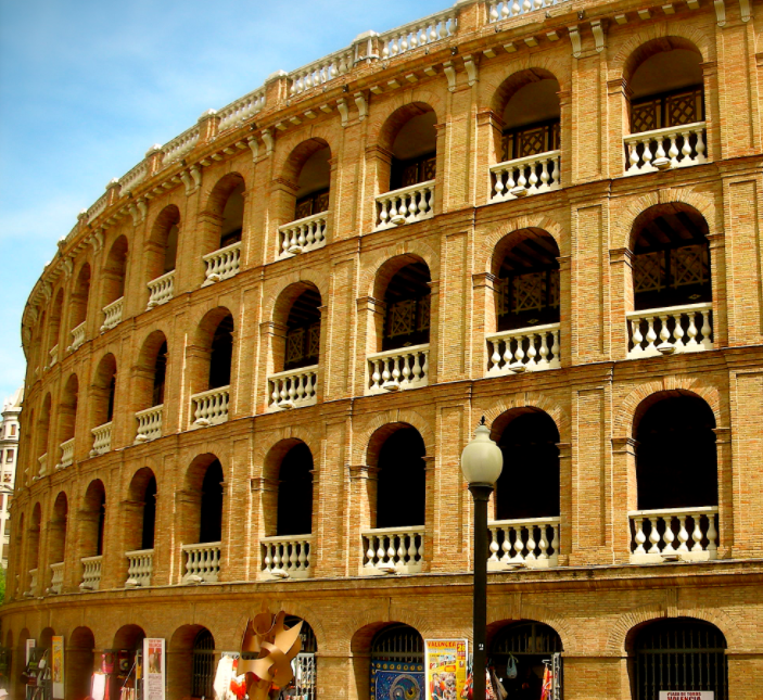 The bullring in Valencia. Best visited for beer festivals, concerts and photo opps