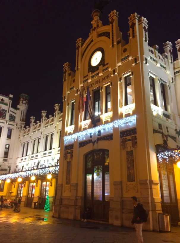 The Main Station Facade at Valencia's Estacion del Norte