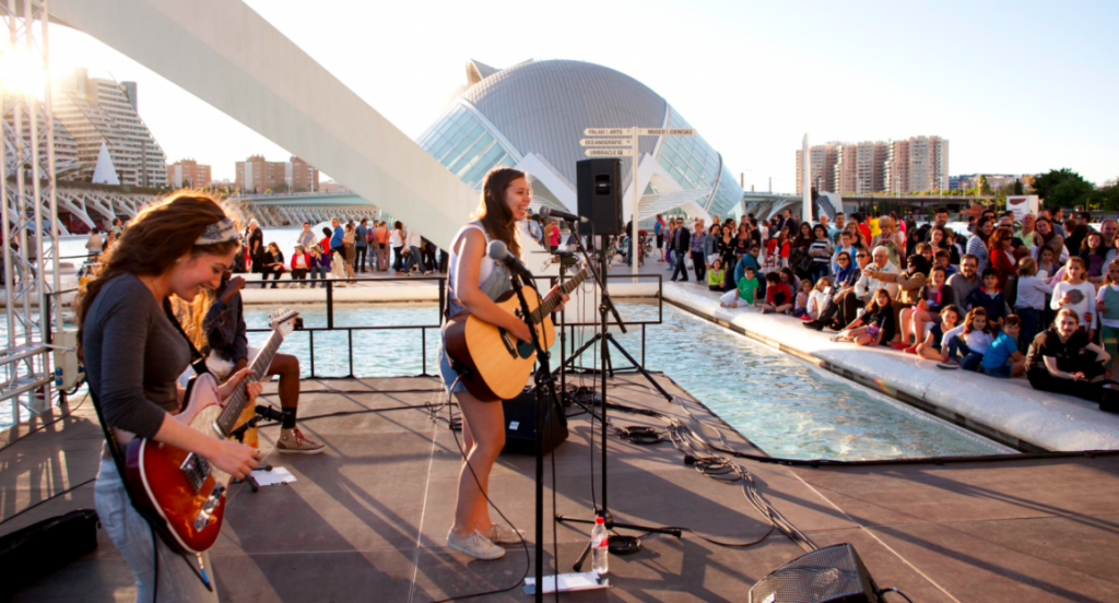 The Berklee Concerts outdoors at the City of Arts and Sciences are a regular summer attraction.