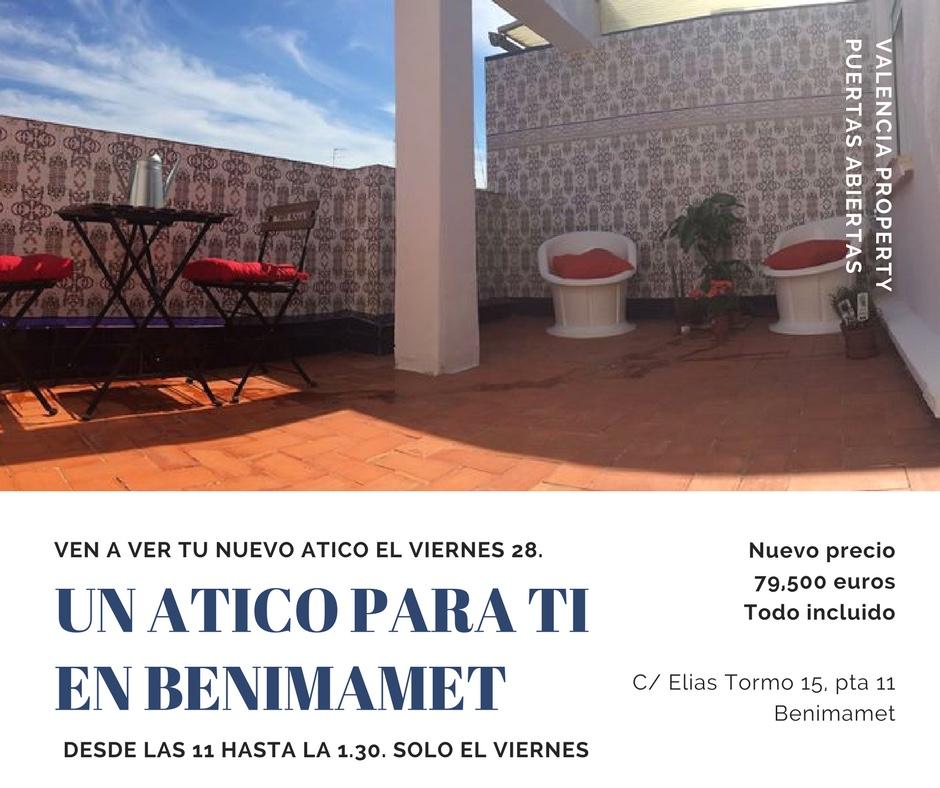 Jornada de Puertas Abiertas en Benimamet el Viernes 28