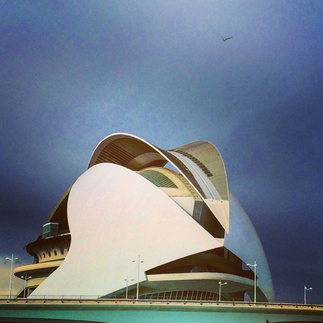The Opera House at the City of Arts and Sciences in Valencia, right next to Monteolivete