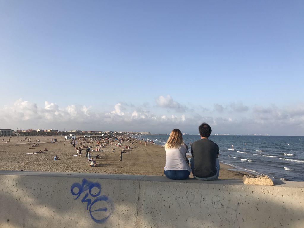 Valencia Beach in October
