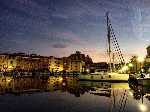 Port Saplaya Marina in Alboraya by Night