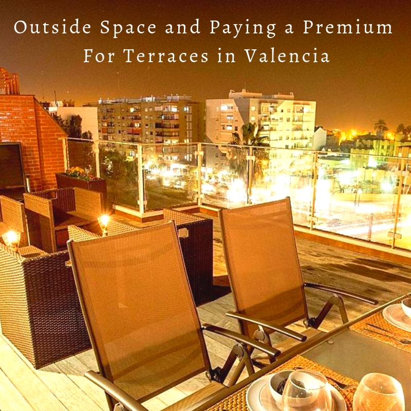 Paying a premium for outside space in Valencia