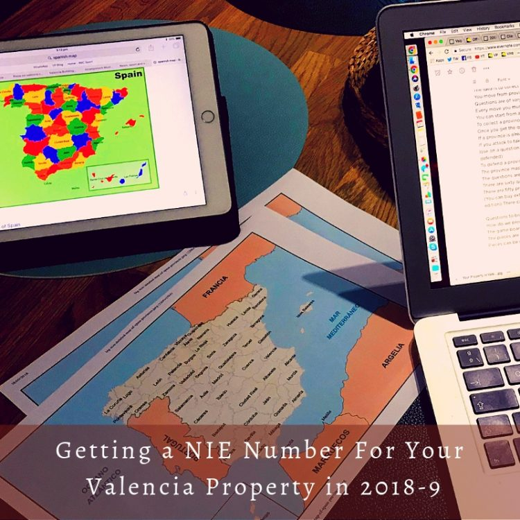 Getting a NIE Number in Valencia in 2018-19