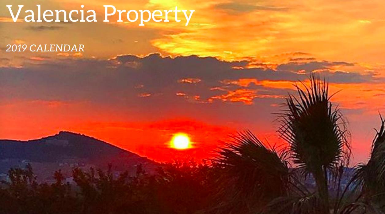 Valencia Property Calendar Cover Image