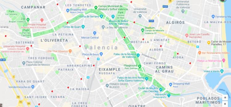 Valencia's Turia Riverbed Park