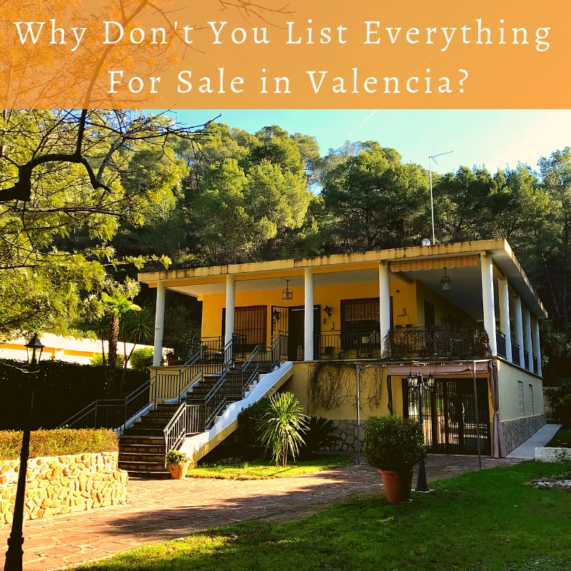 Why Don't You List Everything For Sale in Valencia
