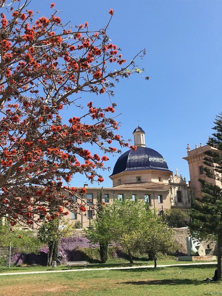 Museo de Bellas Artes in Valencia from the Riverbed