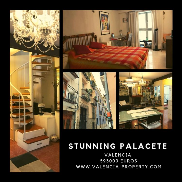 Stunning Palace with Large Sunlit Terraces near Valencia's Central market.