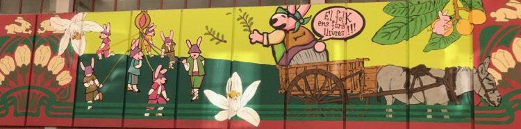 Street Art in the Rojas Clemente Market in el Botanico, Valencia