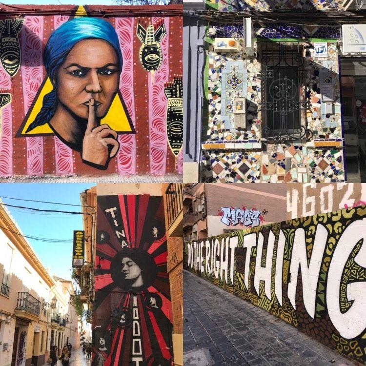 Benimaclet Street Art and Tiles.