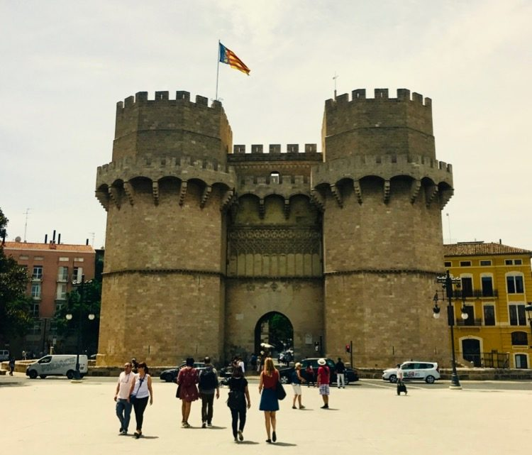 The Torres Serranos on a Quiet Day For Segway Tours