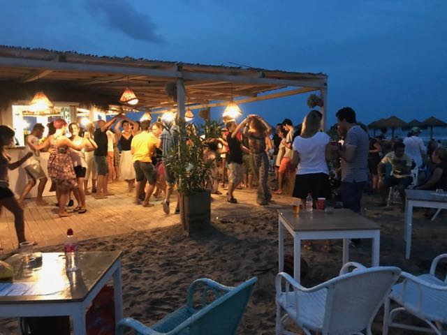 Nightlife on the Patacona beach
