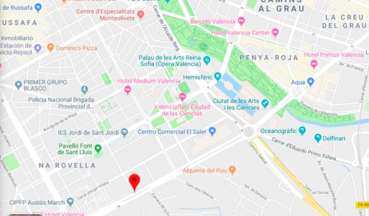 Proposed Location of Valencia Arena