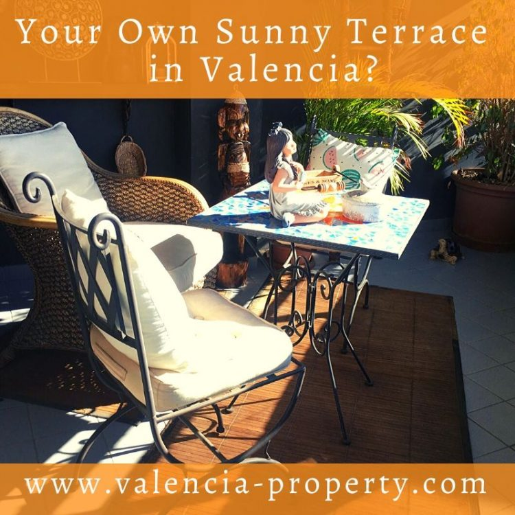Your Own Sunny Terrace in Valencia