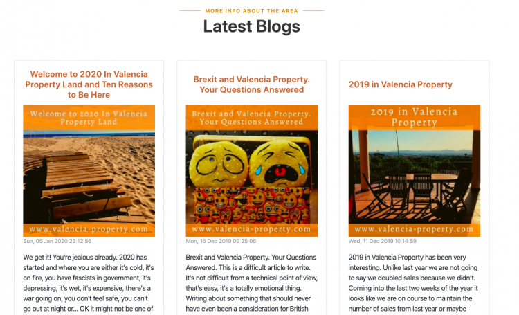 Latest Valencia Property Blogs