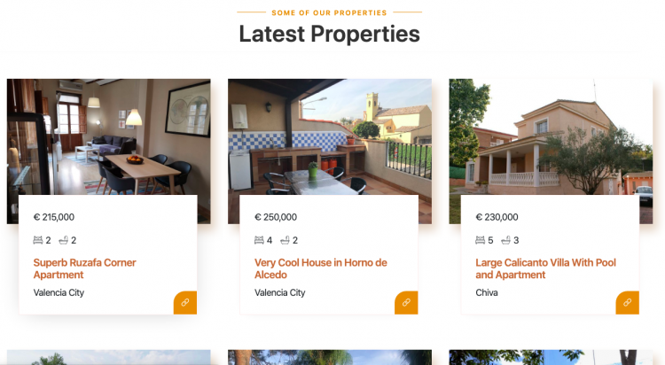 Latest Properties on Valencia Property Website