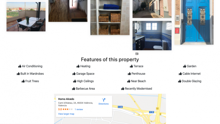 Features of an individual Valencia Property