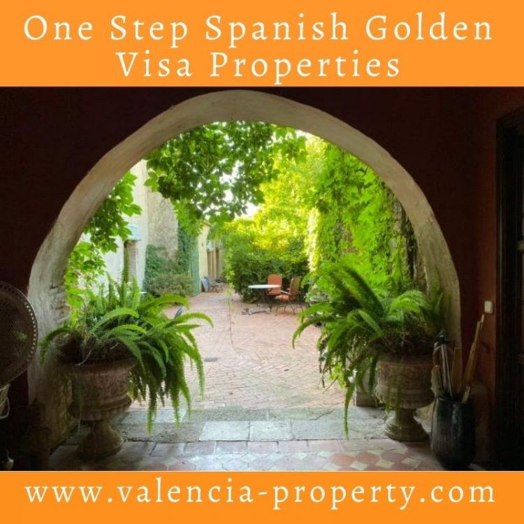 One Step Spanish Golden Visa properties in Valencia