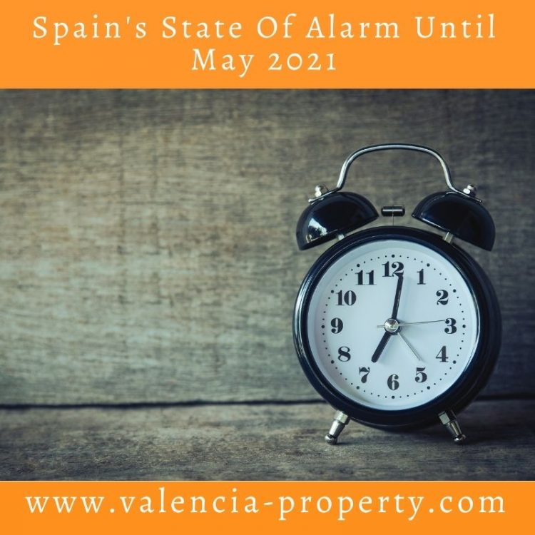 Spain's state of alarm until May 2021